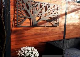 drewniana pergola w ogrodzie w luboniu