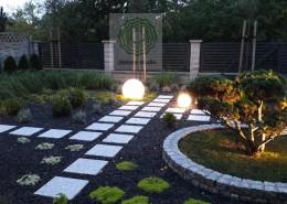 projekt oświetlenia w ogrodzie