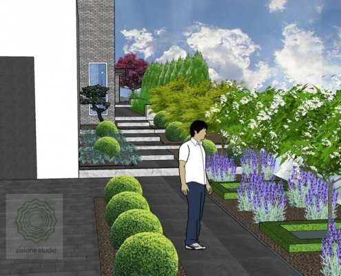 projekt nawierzchni w ogrodzie poznan